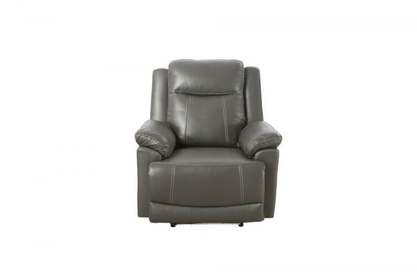 oversized leather rocker recliner chair front