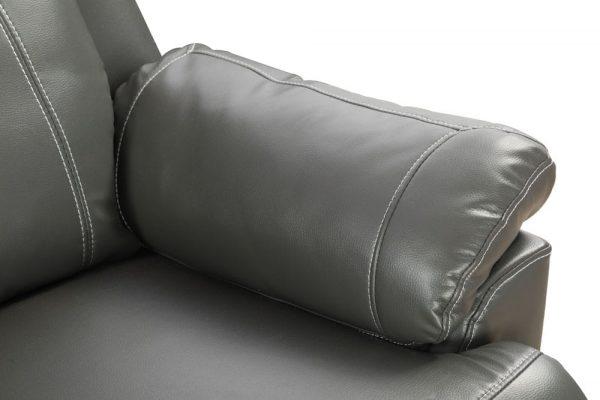oversized leather rocker recliner detail 1