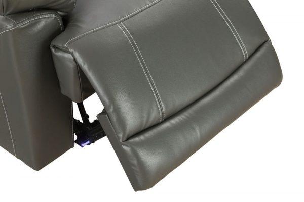 oversized leather rocker recliner detail 2