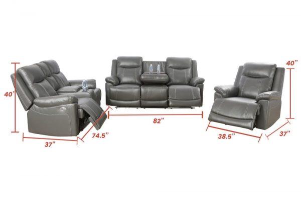 oversized leather rocker recliner size