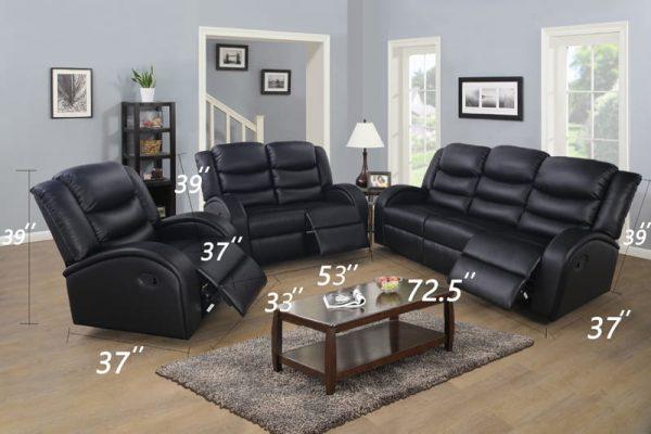 recliner sofa johor bahru sences size