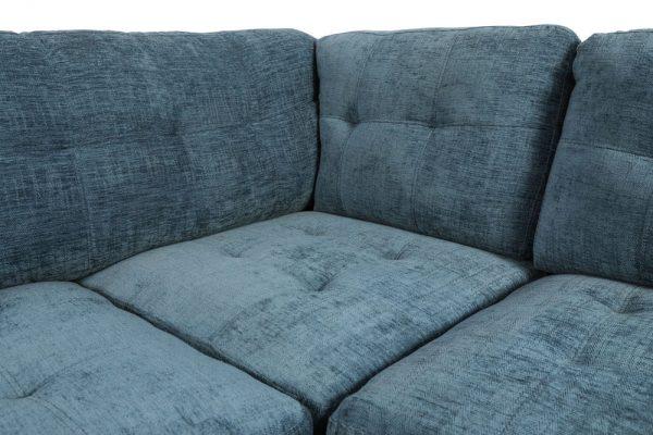 sectional linen sofa blue