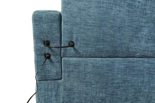 sectional linen sofa blue back