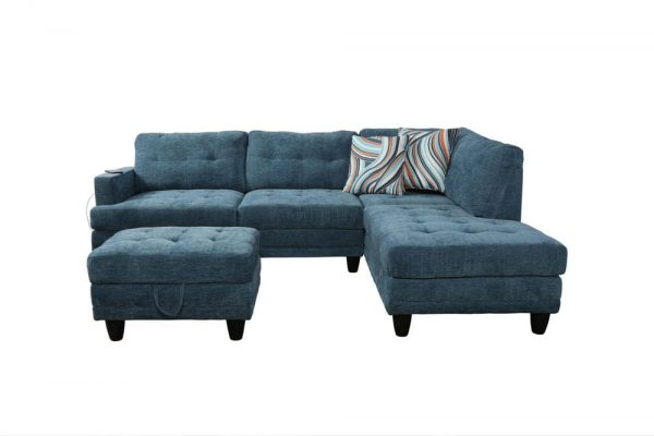 sectional linen sofa front
