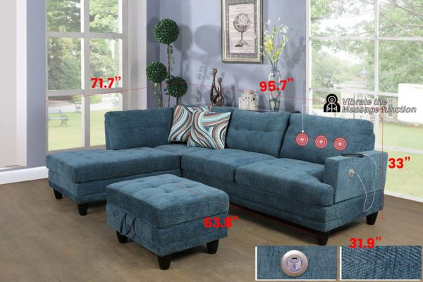sectional linen sofa size