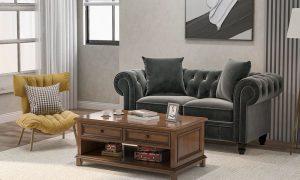 63 Deep Button Tufted Velvet Upholstered Loveseat Sofa Roll Arm Classic Chesterfield Settee