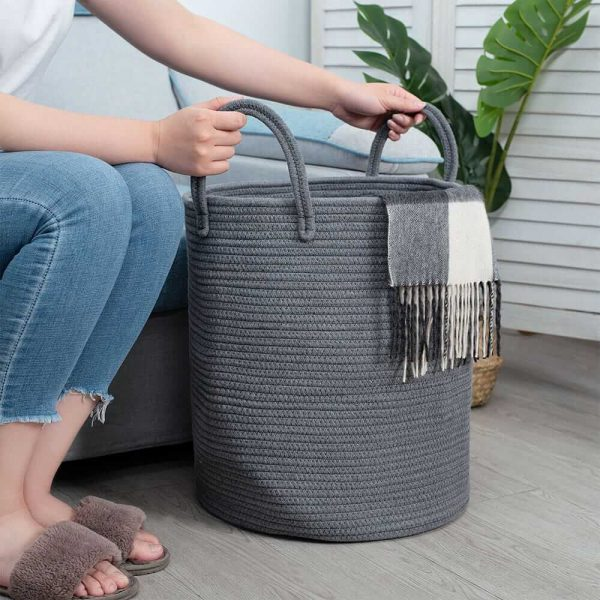 Ainehome Tall Woven Rope Baskets sences 1