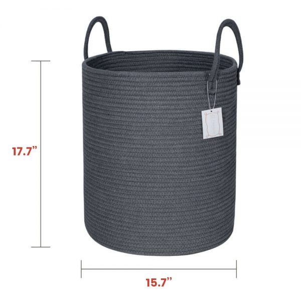 Ainehome Tall Woven Rope Baskets size