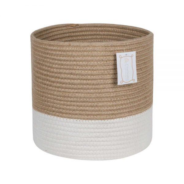 Ainehome XXXLarge Cotton Rope Basket white2