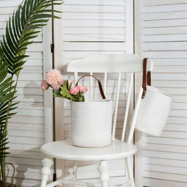 Cotton Rope Laundry Hamper by Ainehome sences