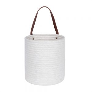 Cotton Rope Laundry Hamper by Ainehome white