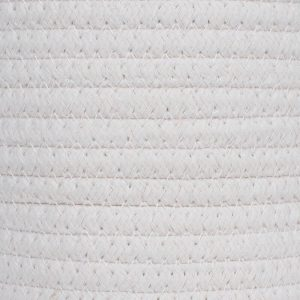 Cotton Rope Laundry Hamper by Ainehome white details2