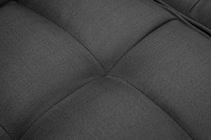 FUTON SLEEPER SOFA WITH 2 PILLOWS DARK GREY FABRIC details