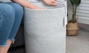 Large Capacity Woven Laundry Hamper gary sences 2