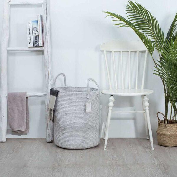 Large Capacity Woven Laundry Hamper gary sences
