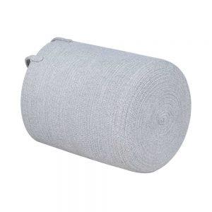 Large Capacity Woven Laundry Hamper gary white1