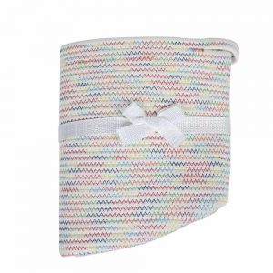Large Cotton Rope Woven Basket with Handles, Organization and Storage Bin white