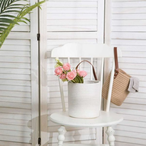 Large Laundry Hamper Woven Cotton Rope Storage Baskets sences1