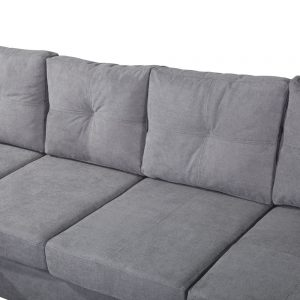 Sectional Sofa Set for Living Room with L Shape Chaise Lounge ,Left or Right Hand Chaise Modern (Grey) details