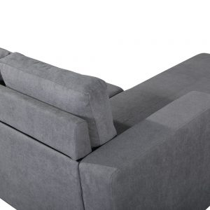 Sectional Sofa Set for Living Room with L Shape Chaise Lounge ,Left or Right Hand Chaise Modern (Grey) details2