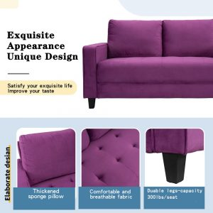 Sofa Set Morden Style Couch Furniture Upholstered Armchair, Loveseat and Three Seat for Home or Office (1+2+3-Seat) details