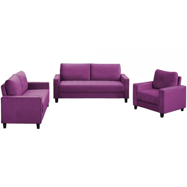 Sofa Set Morden Style Couch Furniture Upholstered Armchair, Loveseat and Three Seat for Home or Office (1+2+3-Seat)1