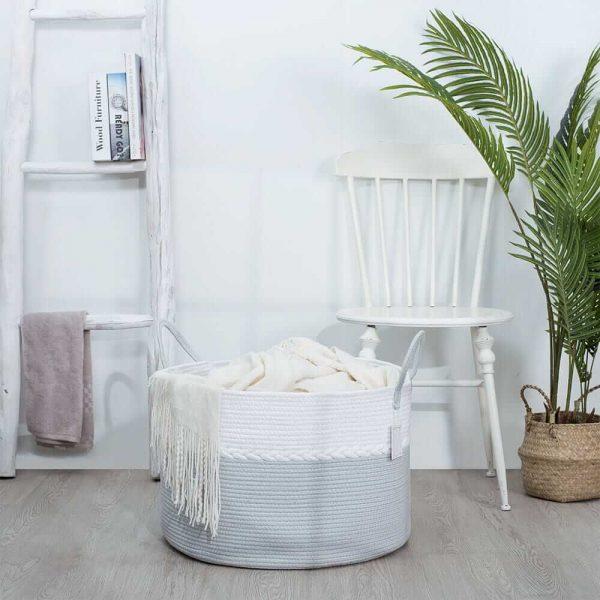 Storage Nest Extra Large Cotton Laundry Basket Gift sences1