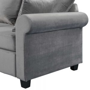 U_STYLE Sectional Sofa Couch,L-Shaped Couch for Small Space,Grey details2