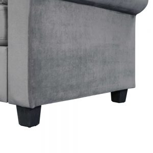 U_STYLE Sectional Sofa Couch,L-Shaped Couch for Small Space,Grey details3