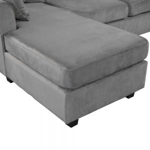 U_STYLE Sectional Sofa Couch,L-Shaped Couch for Small Space,Grey details4