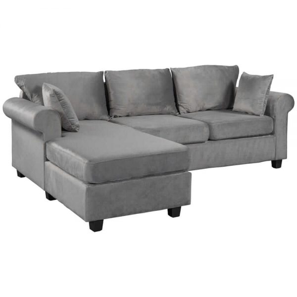 U_STYLE Sectional Sofa Couch,L-Shaped Couch for Small Space,Grey white1