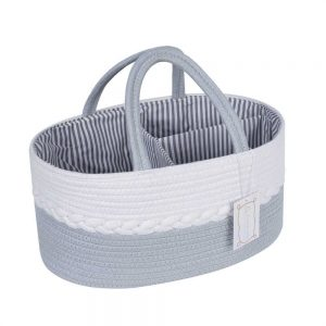 Woven Laundry Basket for Clothes and Toys white 1