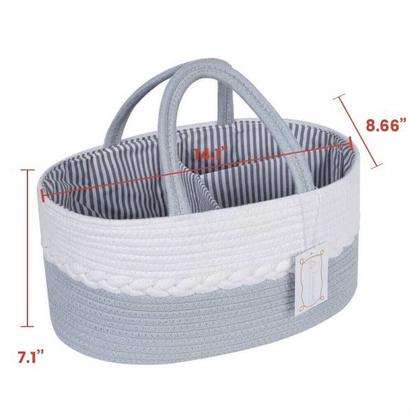 Woven Laundry Basket for Clothes and Toys white size