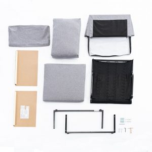 2-seat Sofa Couch with Modern Linen Fabric for Living Room or Apartment detail3