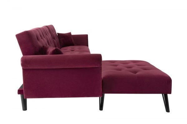 Convertible Sofa bed sleeper red velvet3