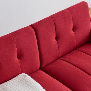 Modern ployester fabric sofa 71W Red details