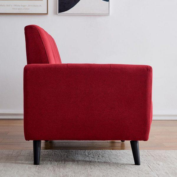 Modern ployester fabric sofa 71W Red side