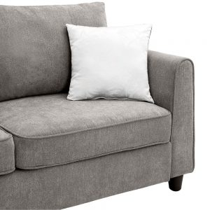 """New] 100100"""" Big Sectional Sofa Couch L Shape Couch for Home Use Fabric Grey 3 Pillows Included detail 3"""