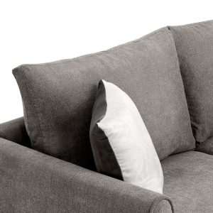 """New] 100100"""" Big Sectional Sofa Couch L Shape Couch for Home Use Fabric Grey 3 Pillows Included detail 5"""