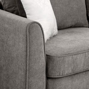 """New] 100100"""" Big Sectional Sofa Couch L Shape Couch for Home Use Fabric Grey 3 Pillows Included detail 6"""