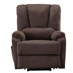 Power Lift Chair for Elderly Reclining Chair Sofa Electric Recliner Chairs with Remote Control Soft Fabric Sofa, Chocolate front
