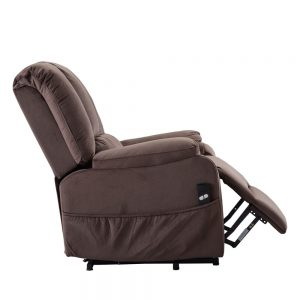 Power Lift Chair for Elderly Reclining Chair Sofa Electric Recliner Chairs with Remote Control Soft Fabric Sofa, Chocolate side