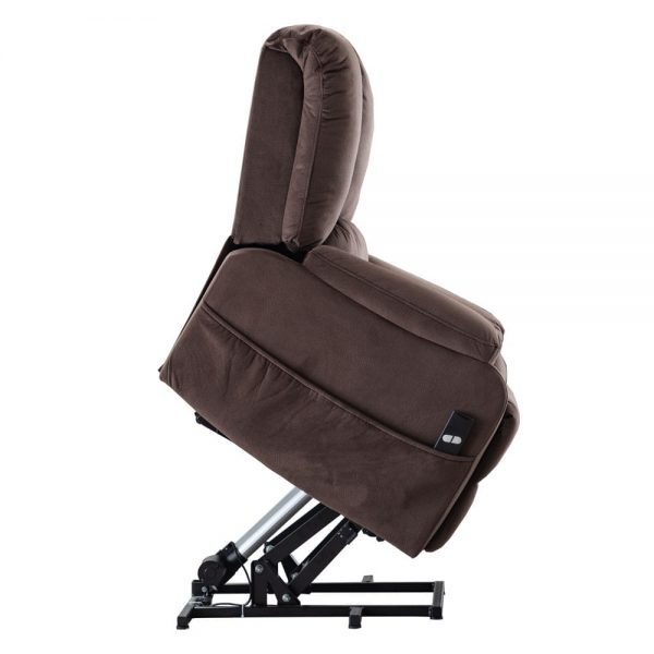Power Lift Chair for Elderly Reclining Chair Sofa Electric Recliner Chairs with Remote Control Soft Fabric Sofa, Chocolate4