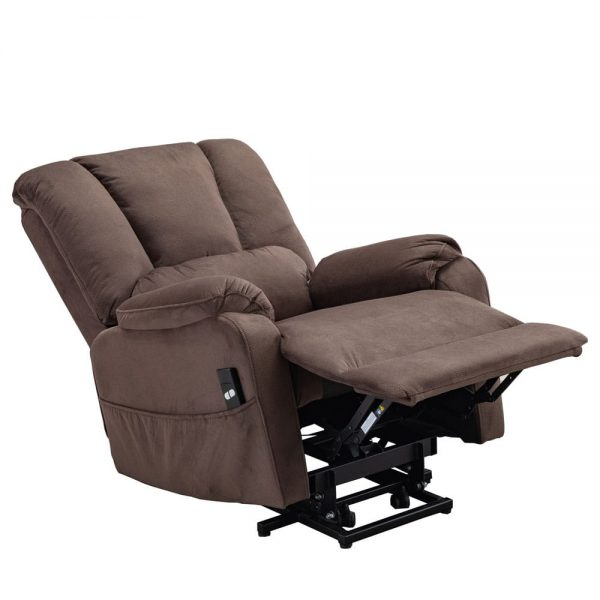 Power Lift Chair for Elderly Reclining Chair Sofa Electric Recliner Chairs with Remote Control Soft Fabric Sofa, Chocolate5