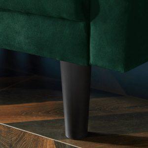REVERSIBLE SECTIONAL SOFA SLEEPER WITH 2 PILLOWS DARK GREEN VELVET details1