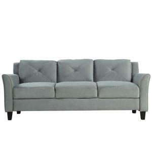 U_STYLE Button Tufted 3 Piece Chair Loveseat Sofa Set 3