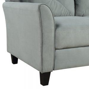 U_STYLE Button Tufted 3 Piece Chair Loveseat Sofa Set detail