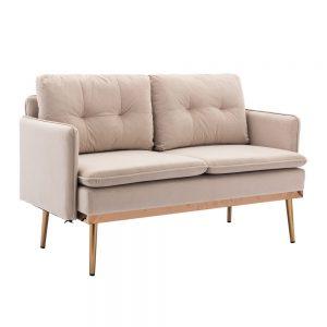 Velvet Sofa , Accent sofa .loveseat sofa with Stainless feet 3