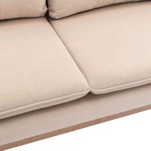 Velvet Sofa , Accent sofa .loveseat sofa with Stainless feet detail 1
