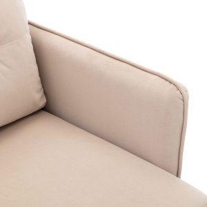 Velvet Sofa , Accent sofa .loveseat sofa with Stainless feet detail 2